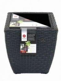 pflanzgef e eckig mit lechuza einsatz anthrazit. Black Bedroom Furniture Sets. Home Design Ideas