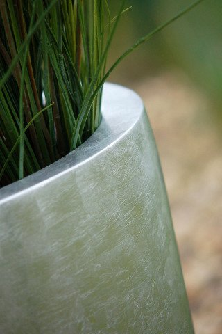 fiberglas vase pflanzk bel city farbe silber hochglanz online bestellen. Black Bedroom Furniture Sets. Home Design Ideas