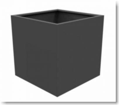 pflanzk bel w rfelf rmig aluminium wetterbest ndig online. Black Bedroom Furniture Sets. Home Design Ideas