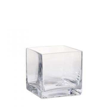 Blumenvasen Aus Glas Farblos Eckig Online Kaufen