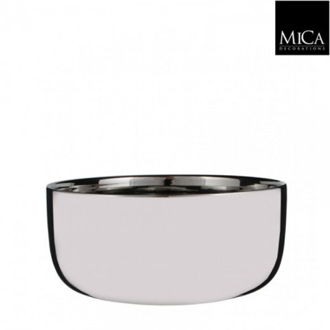 dekorative schale aus keramik in silber direkt online. Black Bedroom Furniture Sets. Home Design Ideas