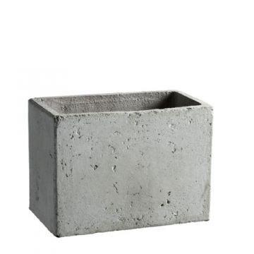 Quadratischer Übertopf in Betongrau, online bestellen und kaufen ...