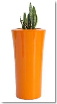pflanzgef praga klein aus fiberglas in zwei gr en und. Black Bedroom Furniture Sets. Home Design Ideas