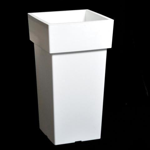 Pflanzgefäß Kunststoff weiß hoch | blumentopf24.de