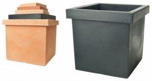 kunststoff pflanzk bel terracotta optik. Black Bedroom Furniture Sets. Home Design Ideas